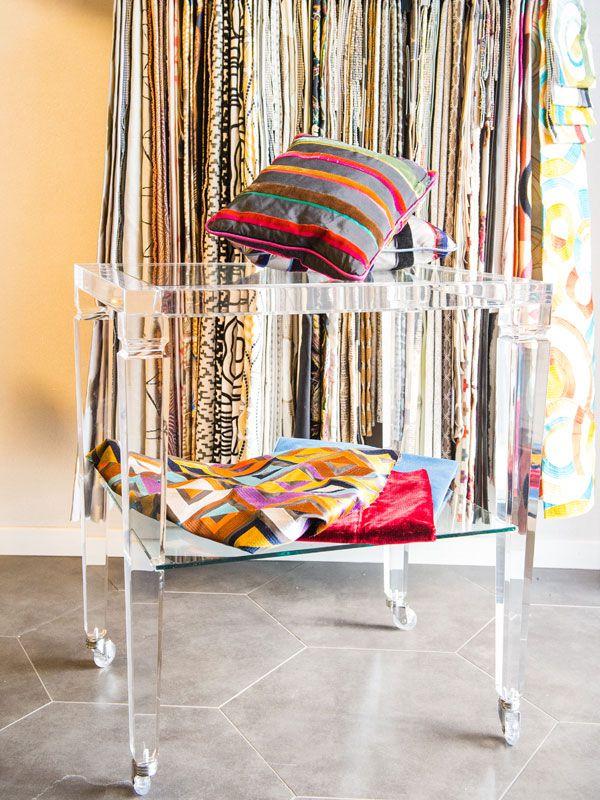 Perspex pieces of furniture