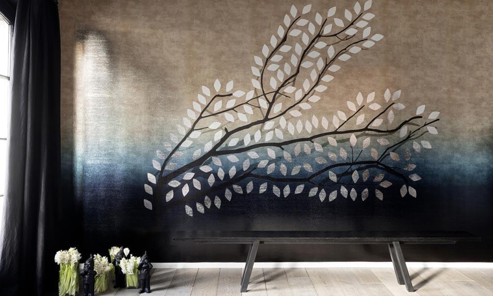 Carta Parati Classica Toile Elegance: Tessitura D'Arte